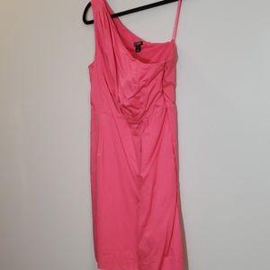J.Crew sz 8 one shoulder pink dress